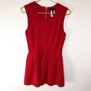 BCBGMaxAzria Red Sleeveless Formal Mini Dress M